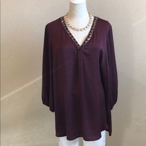 Violet + Claire Jeweled Tunic/Top
